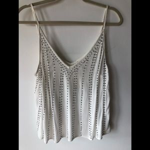 Free People Intimately White Embellished Tank Top